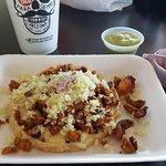 Chicken Gordita (hard) @ Backyard Taco - 1524 E. UNIVERSITY DR. MESA, AZ 85203