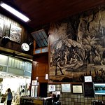 The art on the wall with historic reference