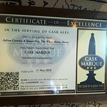 Cask Marque accredited and also Walkers are Welcome
