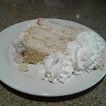 Coconut cake--may be fine for others. Just average for us.