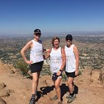 At the top - Camelback Echo Canyon Trail