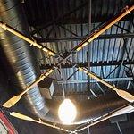 oars in the ceiling