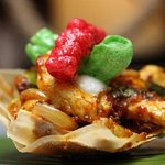 street sweet chilli chicken and funky papadums