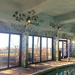 Tropical indoor pool & hot tub