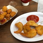 Fried Shrimp and Hush Puppies
