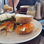 Great sandwich and coffee