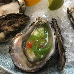 Natural Oysters with Lime, Mirin & Salmon Caviar