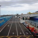 Loading area for the ferry's
