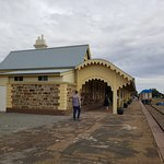 Burra rail station - once 4 sets of tracks ran past it - now it's a mini museum with big plans!
