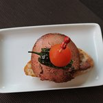 Sirloin of veal with foie