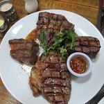 Sharing steak platter