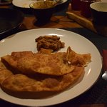 Chhola Bhatura - fried bread with chick peas curry