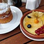 Cointreau-Kuchen und Crema Catalana