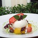 Mozarella Burrata  et tomates de saison