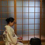 During the tea ceremony