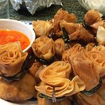 Tung-Tong (Golden Bundles and Sweet Chili Sauce)