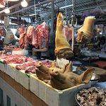 Pork stall at the market