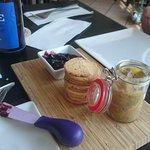 Blueberry jam with foie gras