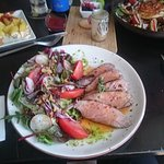 Black Iberain pork with salad