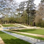 Les jardins et les cascades d'eau
