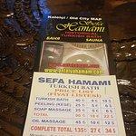 Sefa Hamam price list Antalya