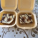 Banoffee Slice as a takeaway. Delicious!