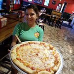 William Lewis of Fort Lauderdale dining out at Big Apple Pizza in Fort Pierce, Florida.