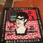 A coaster from Red Cabbage.