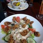 Taste of three on top, Toulouse salad on bottom.