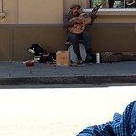 Entertainment across the street.
