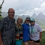 Pitons in the background