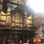 The organ pipes..not sure if they work but certainly they'd punch out some volume..
