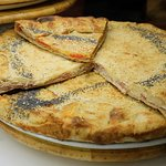 "Stuffed pizza or ""pizza ripiena"""