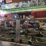 Take out & restaurant preparation area - so many different dishes!
