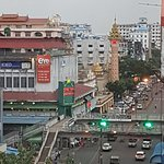 Another view of Yangon Chinatown from outside the hotel restaurant.