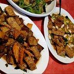 Kung Pao Tofu, Eggplant Tofu, Mandarin Noodles with Tofu