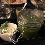 Mint pea soup- so delicious