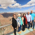 Our family on the Skywalk at Grand Canyon