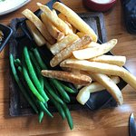 Chunky Chips with Aioli and Green Beans with Beurre Noisette