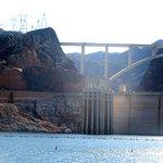 Back Side Dam and Also Tillerman Bridge, Lake Mead Cruises, Las Vegas, Nevada