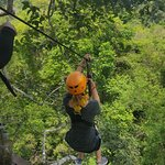 you get an incredible view of the jungle while ziplining!