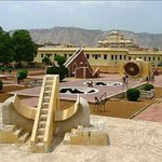 The Jantar Mantar monument in Jaipur, Rajasthan is a collection of nineteen architectural astron