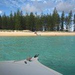 returning from glass bottom boat tour