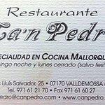 Foto de Restaurante Ca 'n Pedro (Valldemossa)