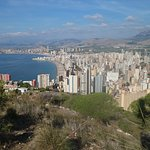 View of Benidorm from the top