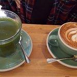 cappuccino & green tea
