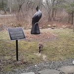 The statue outside the visitor center.