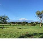 The great blue sky of Kenya and Kilimanjaro