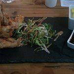 Good food at the Duke of Edinburgh, salt and pepper chicken wings to start, followed by sea food