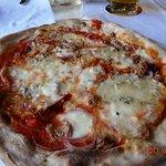 Die leckere italienische Pizza